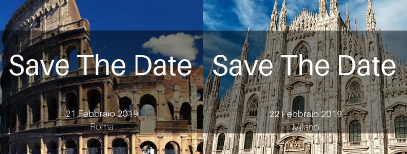 Save the Date Roma-Milano